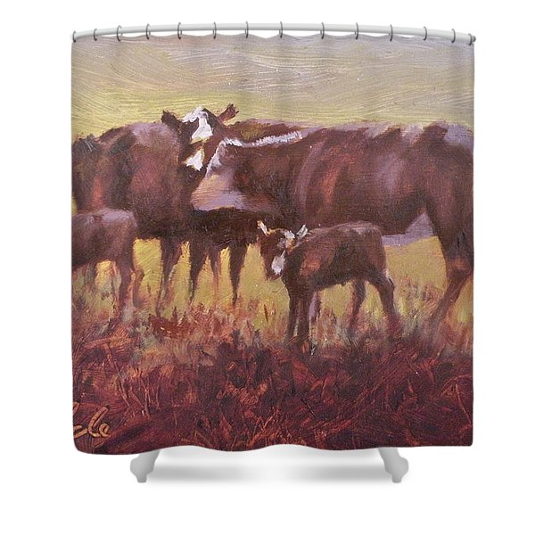 Beginnings Shower Curtain by Mia DeLode
