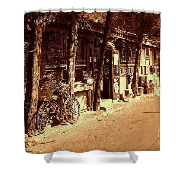 Beijing City 8 Shower Curtain by Xueling Zou