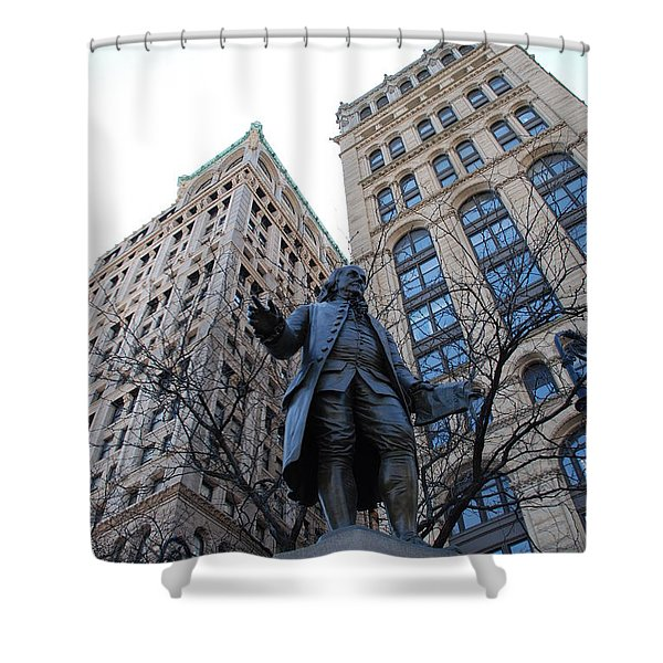 Ben Franklin Shower Curtain by Rob Hans