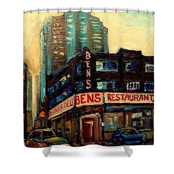 Bens Restaurant Deli Shower Curtain by Carole Spandau