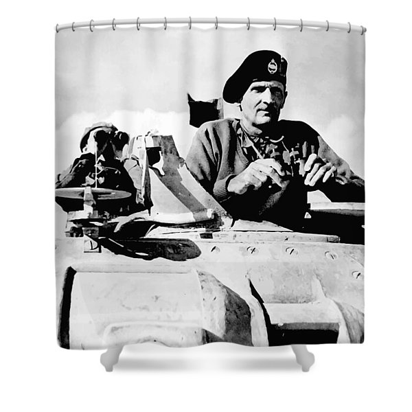 Bernard Law Montgomery Shower Curtain by War Is Hell Store