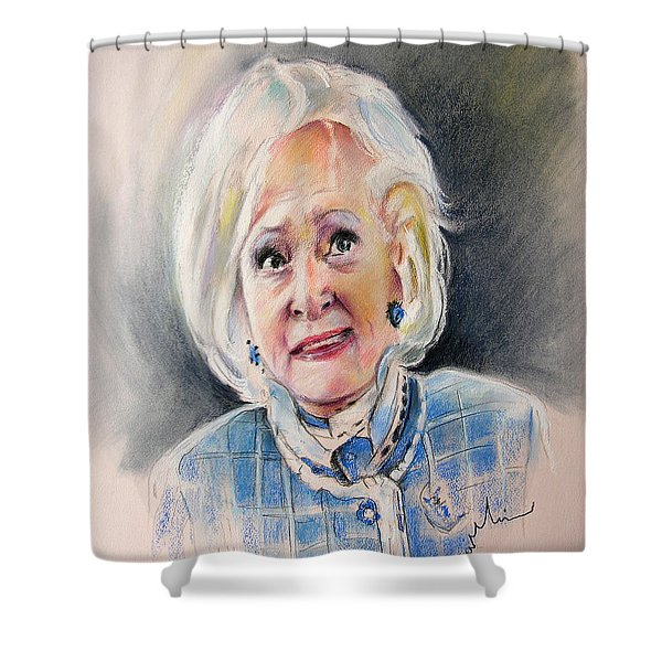 Betty White In Boston Legal Shower Curtain by Miki De Goodaboom