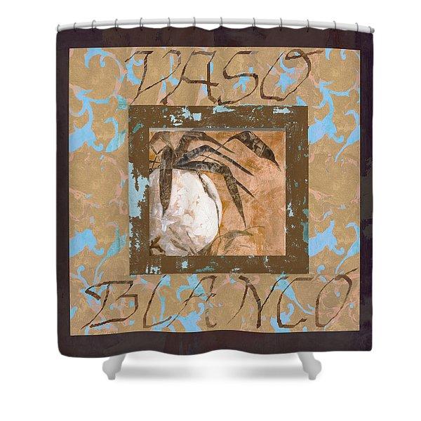 bianco vinaccia Shower Curtain by Guido Borelli