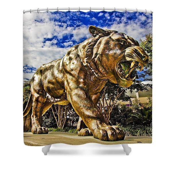 Big Mike Shower Curtain by Scott Pellegrin