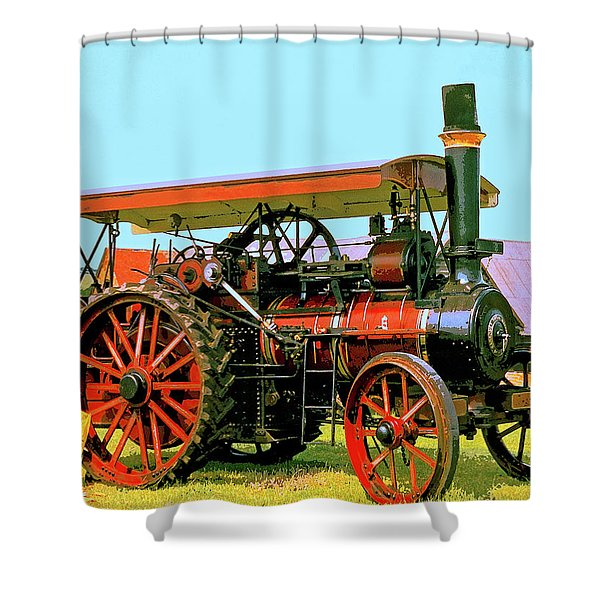 Big Steamer Shower Curtain by Dominic Piperata