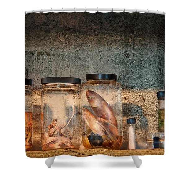 Biology - Biology 101 Shower Curtain by Mike Savad