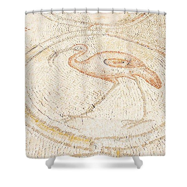 Bird Mosaic Shower Curtain by Tal Bedrack