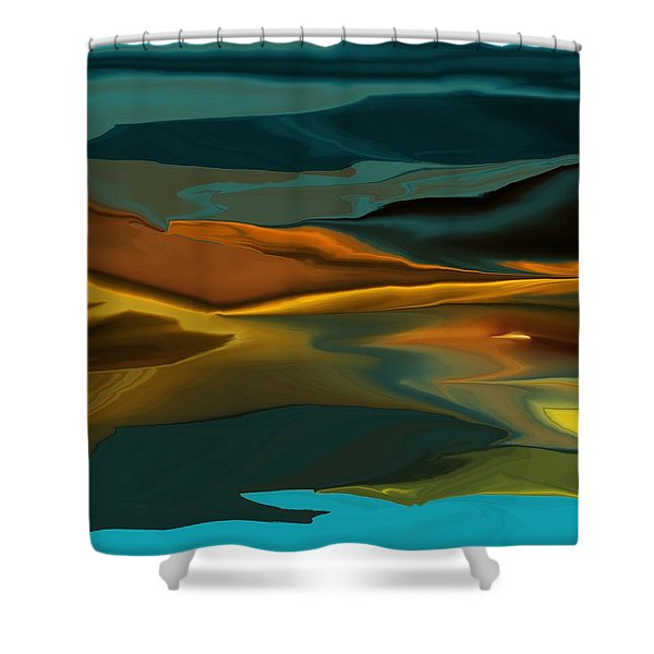 Black Hills Abstract Shower Curtain by David Lane