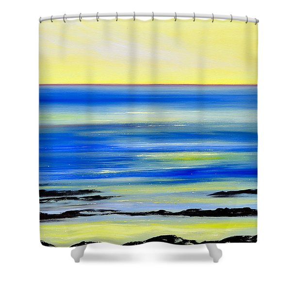 Shower Curtains - Black Lava Sunset 2 Shower Curtain by Gina De Gorna