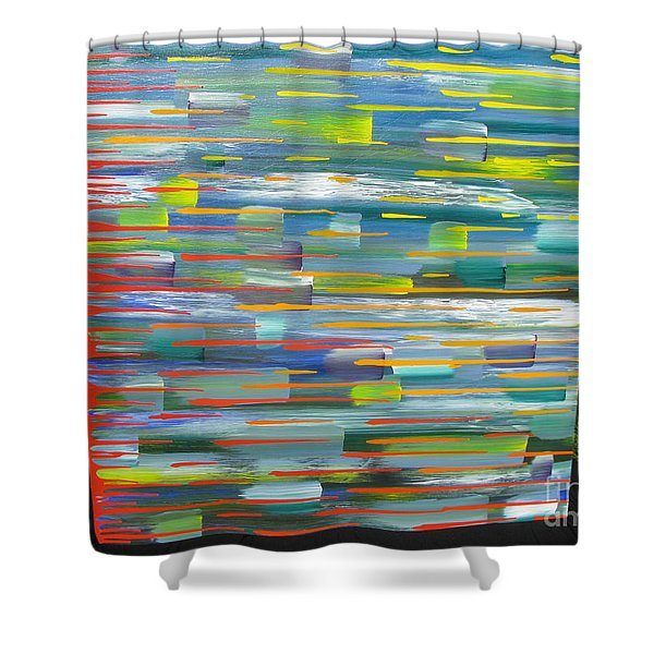 Blindsided Shower Curtain by Jacqueline Athmann