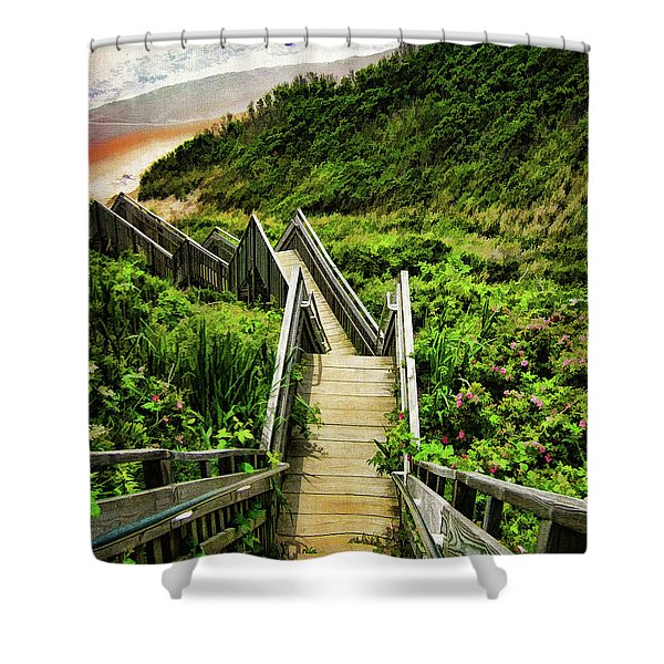 Block Island Shower Curtain by Lourry Legarde