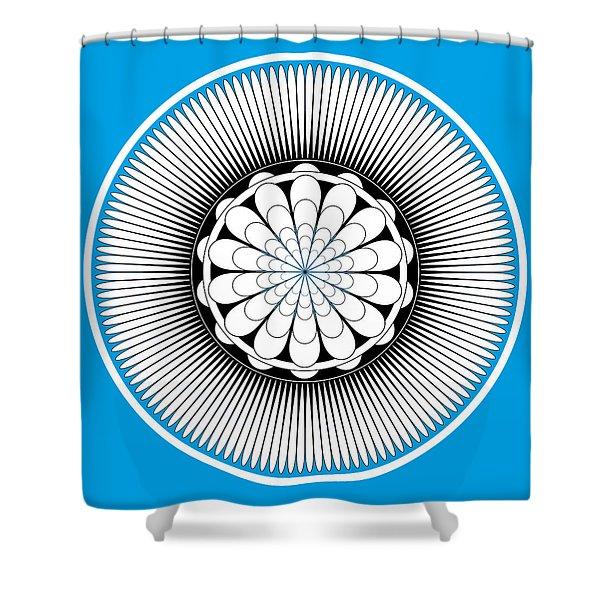 Shower Curtains - Blue Floral Design Shower Curtain by Frank Tschakert