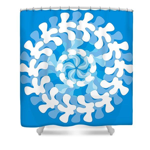 Shower Curtains - Blue Swirl Shower Curtain by Frank Tschakert