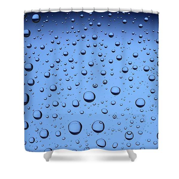 Shower Curtains - Blue Water Bubbles Shower Curtain by Frank Tschakert