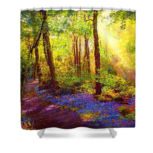Bluebell Blessing Shower Curtain by Jane Small