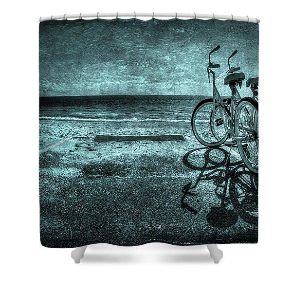 Bluescape Shower Curtain by Evelina Kremsdorf