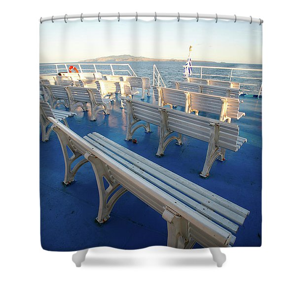 Boat Trip In The Azores Shower Curtain by Gaspar Avila
