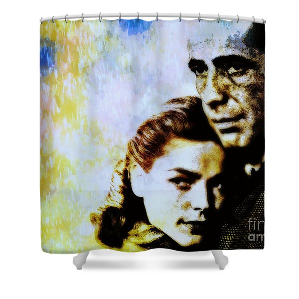 Bogie and Bacall Shower Curtain by WBK