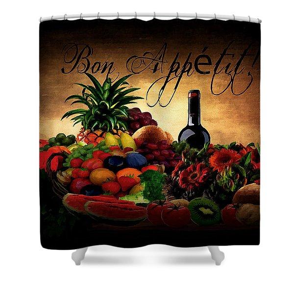 Bon Appetit Shower Curtain by Lourry Legarde
