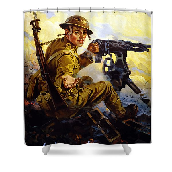 Bonds Buy Bullets Shower Curtain by War Is Hell Store
