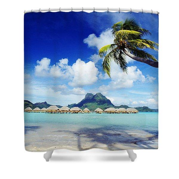 Bora Bora, Lagoon Resort Shower Curtain by Himani - Printscapes