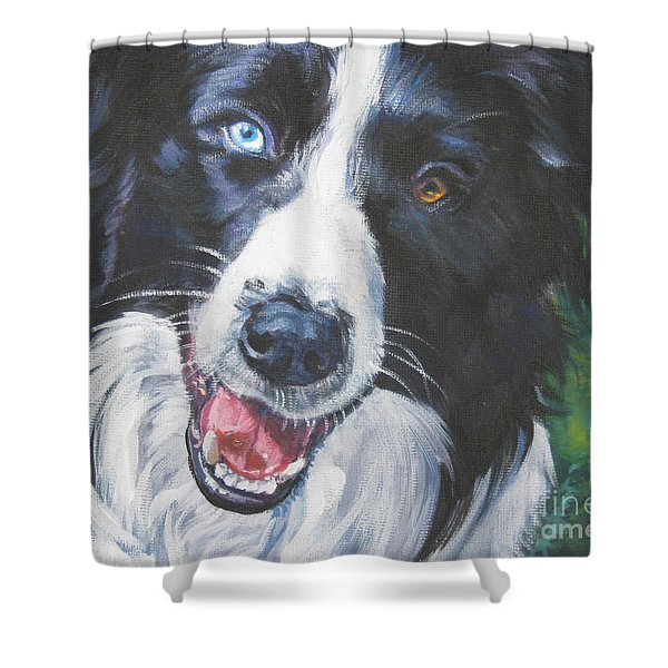 border collie Shower Curtain by Lee Ann Shepard