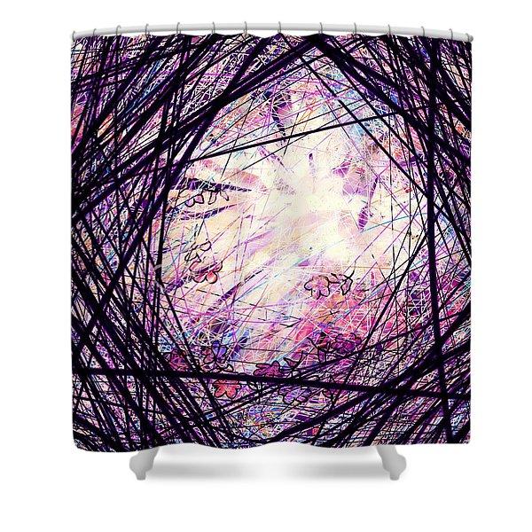 Breakdown Shower Curtain by Rachel Christine Nowicki
