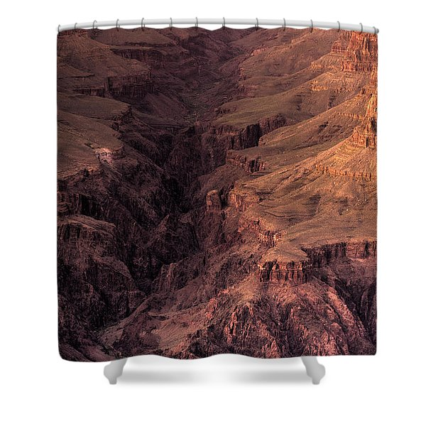 Bright Angel Canyon Grand Canyon National Park Shower Curtain by Steve Gadomski