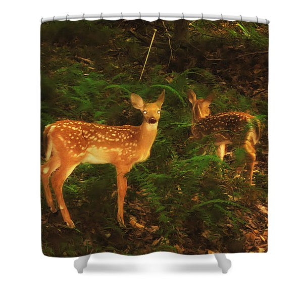 Bright Eyes Shower Curtain by Bill Cannon