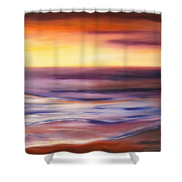 Brushed 9 Shower Curtain by Gina De Gorna
