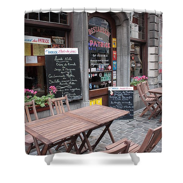 Brussels - Restaurant Chez Patrick Shower Curtain by Carol Groenen