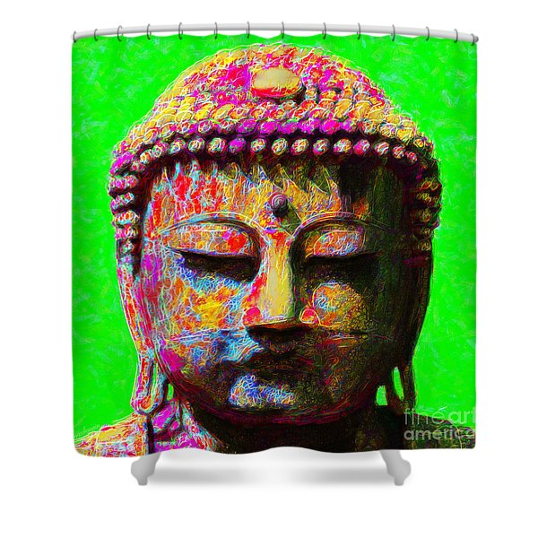 Buddha 20130130m100 Shower Curtain by Wingsdomain Art and Photography