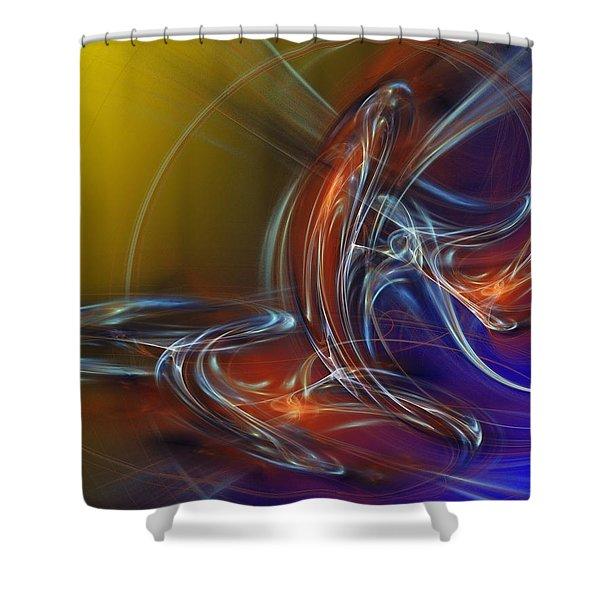Buddhist Protest Shower Curtain by David Lane