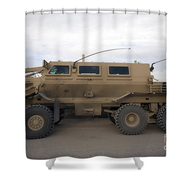 Buffalo Mine Protected Vehicle Shower Curtain by Terry Moore