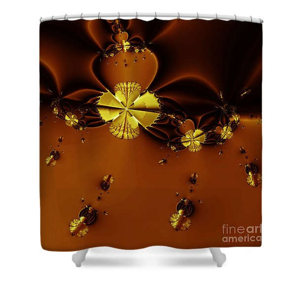 Bumble Beez Over Chocolate Lake . Square . S19 Shower Curtain by Wingsdomain Art and Photography
