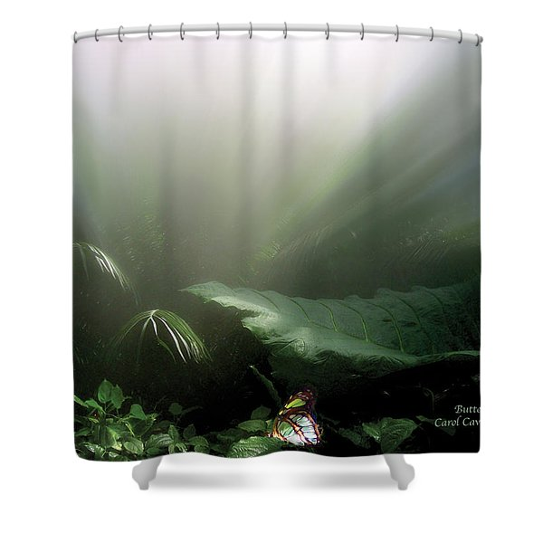 Butterfly Shower Curtain by Carol Cavalaris