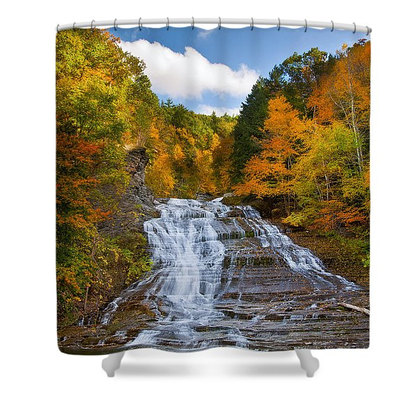 Buttermilk Falls 2 Shower Curtain by Mark Papke