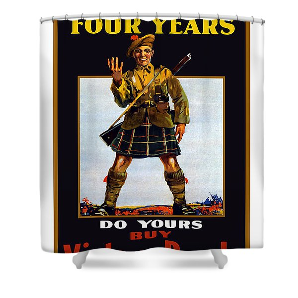Buy Victory Bonds Shower Curtain by War Is Hell Store