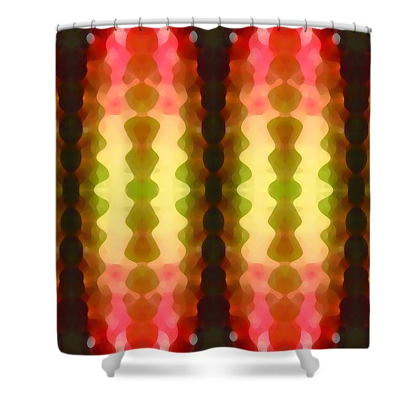 Cactus Vibrations 1 Shower Curtain by Amy Vangsgard