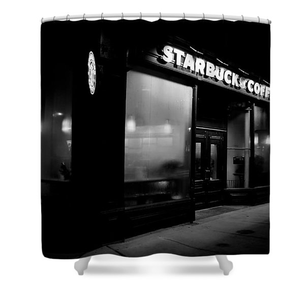 Cafe at Night  Shower Curtain by Andrew Fare