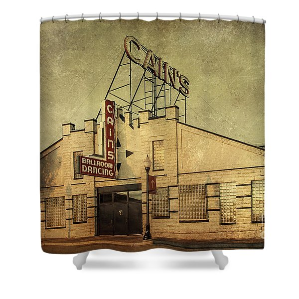 Cain's Ballroom Shower Curtain by Tamyra Ayles