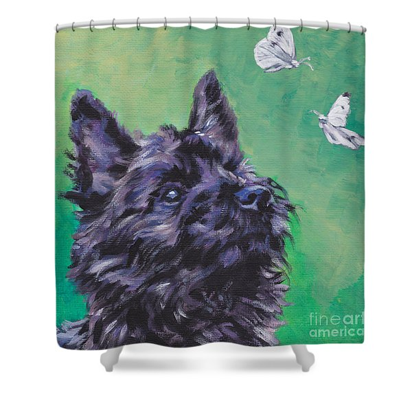 Cairn Terrier Shower Curtain by Lee Ann Shepard