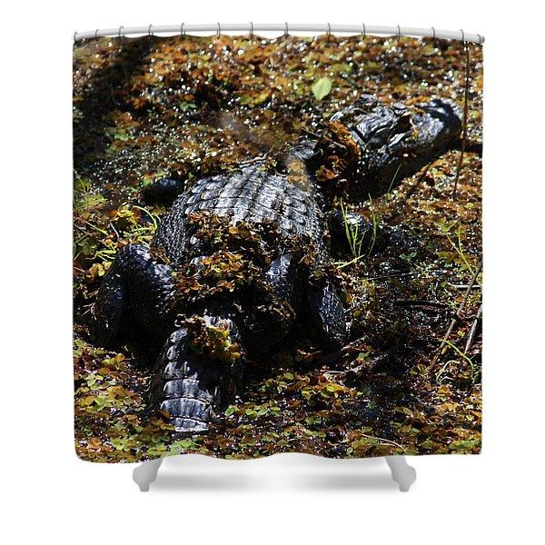 Camouflage Shower Curtain by Carol Groenen