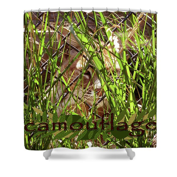 Camouflage Shower Curtain by Methune Hively