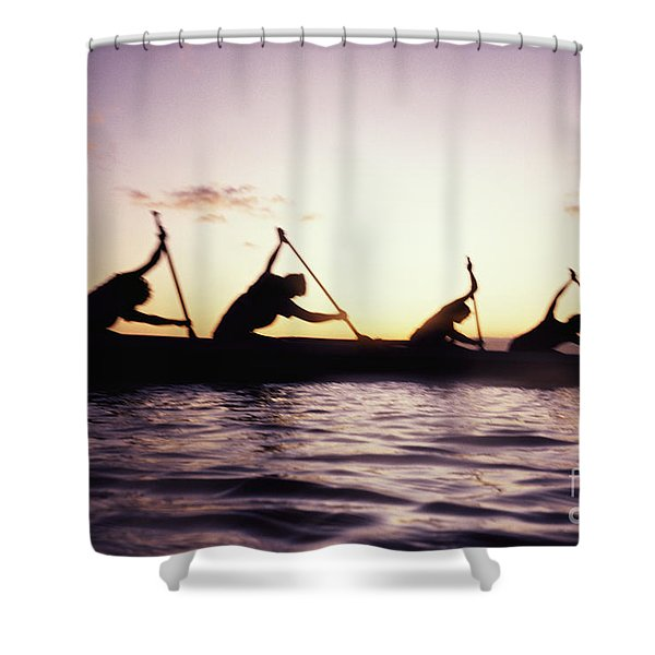 Canoe Race Shower Curtain by Bob Abraham - Printscapes