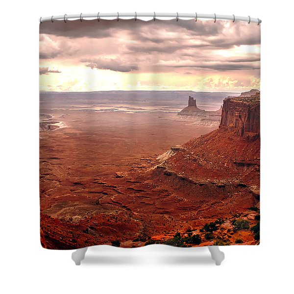 Canyonland Rain Shower Curtain by Robert Bales