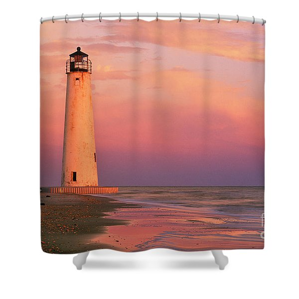 Cape Saint George Lighthouse - Fs000117 Shower Curtain by Daniel Dempster