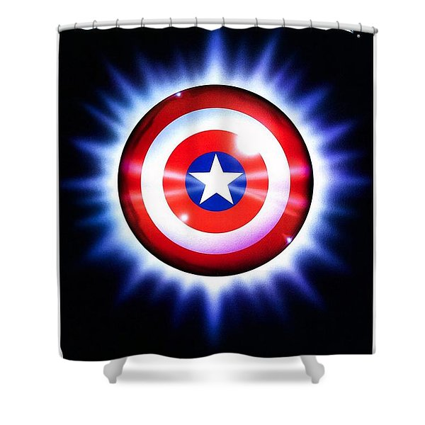 Captain America  Shower Curtain by Movie Poster Prints