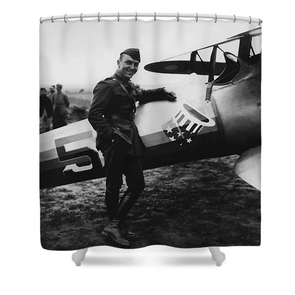 Captain Rickenbacker Shower Curtain by War Is Hell Store