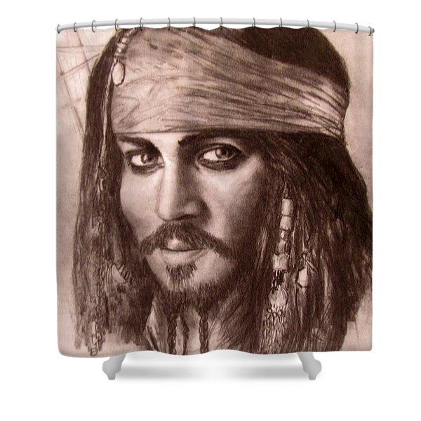 Capt.Jack Shower Curtain by Jack Skinner